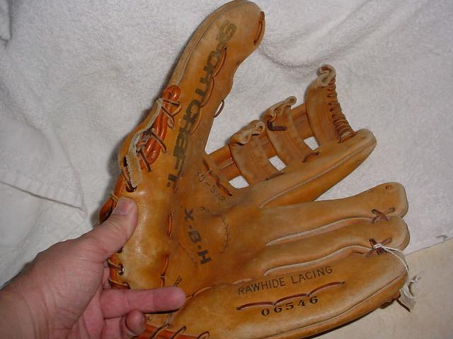 Baseball Glove Repair : Sportcraft xbh baseball glove repair before flickr