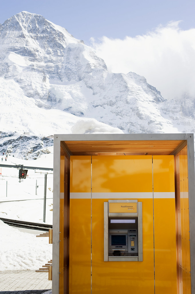 PostFinance ATM at 2061m high