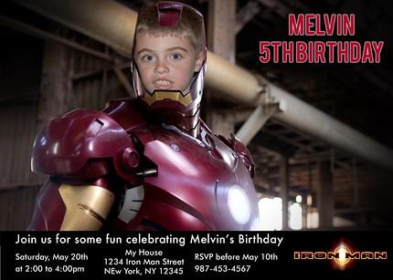 Iron man movie custom birthday invitation a photo on flickriver iron man movie custom birthday invitation filmwisefo