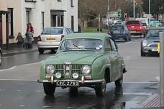 automobile, vehicle, mid-size car, antique car, sedan, classic car, vintage car, saab 96, land vehicle, luxury vehicle, motor vehicle, classic,