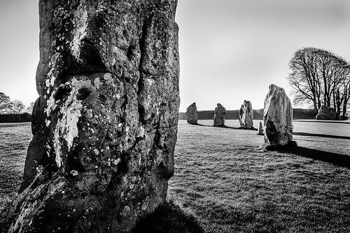 uk morning england blackandwhite bw white black megalithic stone sunrise circle spring unitedkingdom wiltshire avebury neolithic henge bwbandw