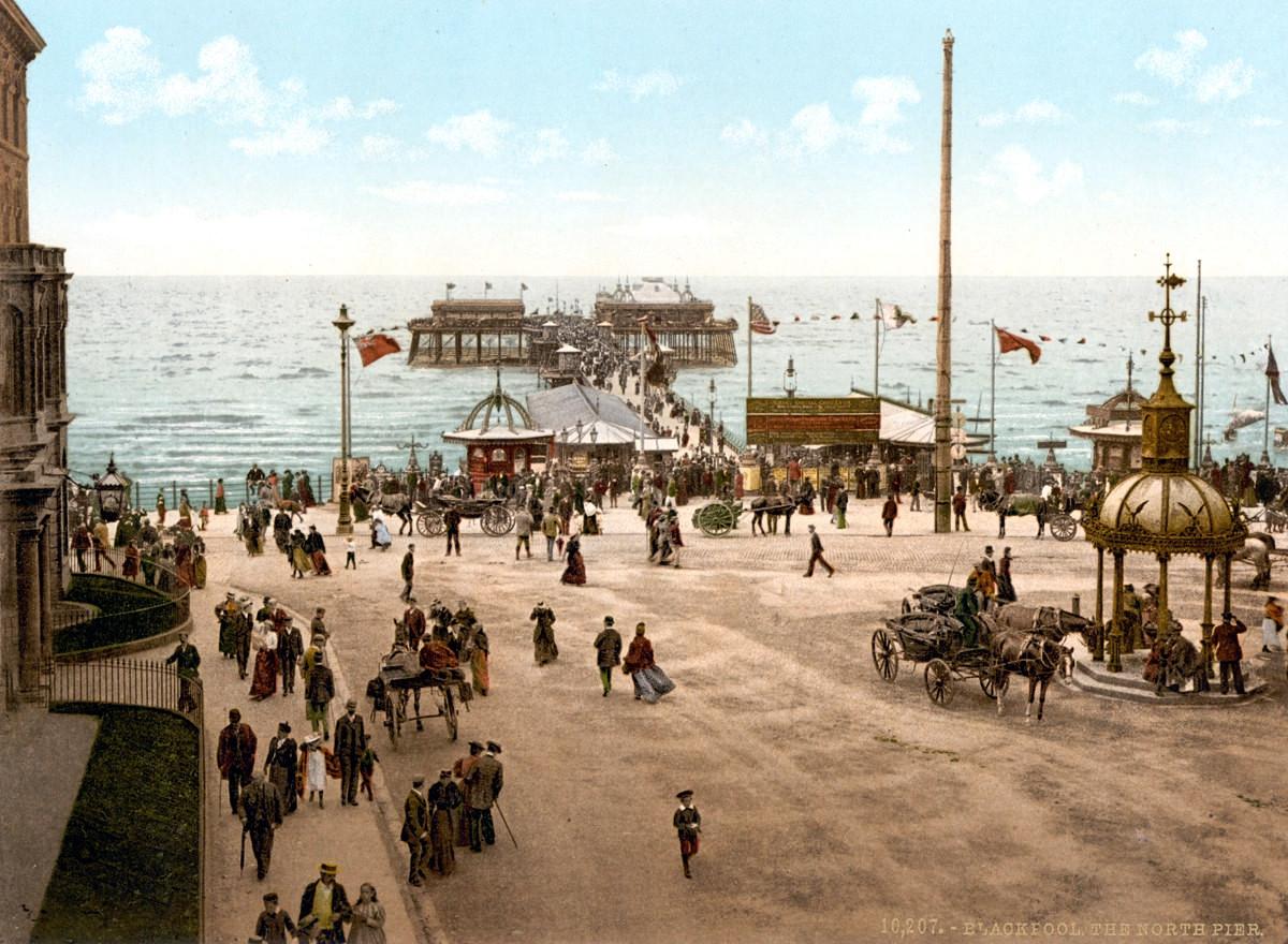 Blackpool North Pier, Lancashire, England, 1895