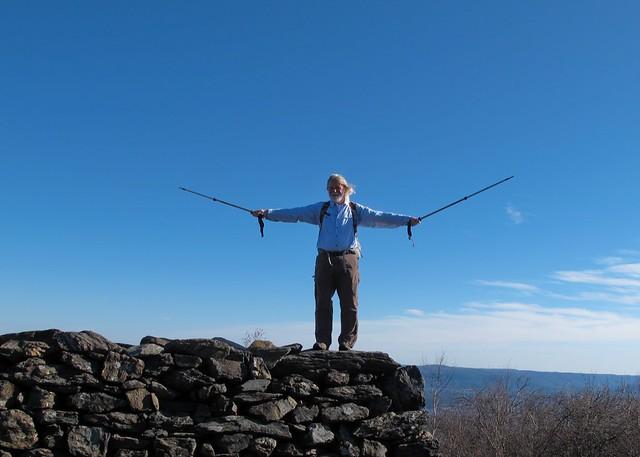 David on top of Bear Mountain