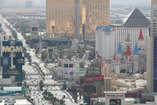View from top of Eiffel Tour at Paris Hotel Las Vegas