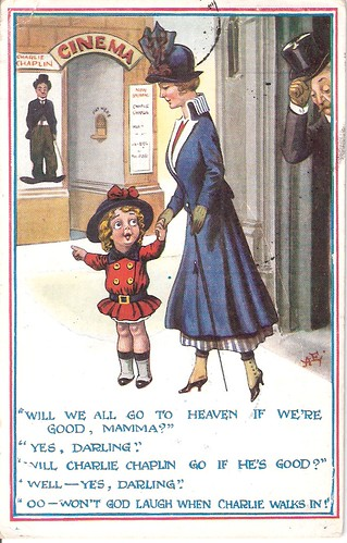 Chaplin cartoon, British 1910s