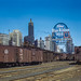 1a34782u - South Water street Illinois Central Railroad freight terminal, Chicago, Ill. by kocojim