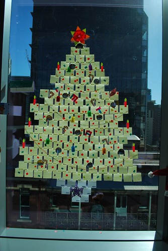 Sticky Note Christmas Tree - UX Team
