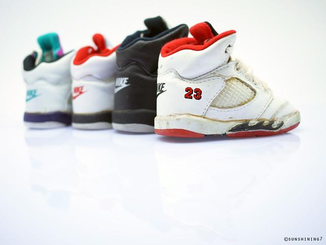 5ed8ad3396c ... Sunshining7 - Nike Air Jordan V (5) 1990 - Baby Jordan Set 4