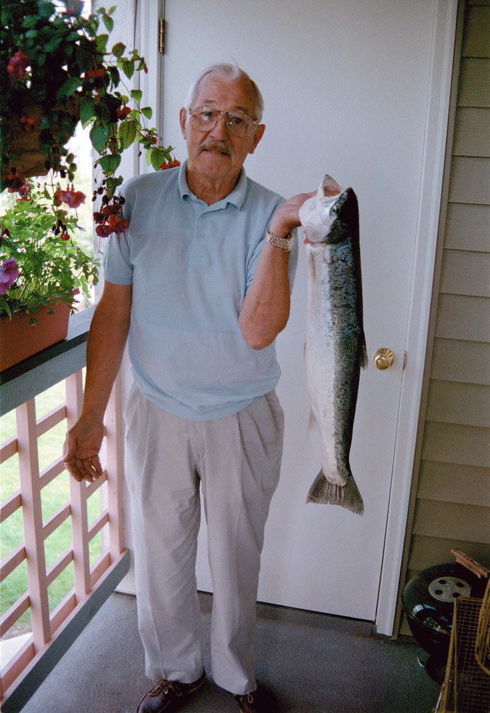 Dad and A Steelhead.
