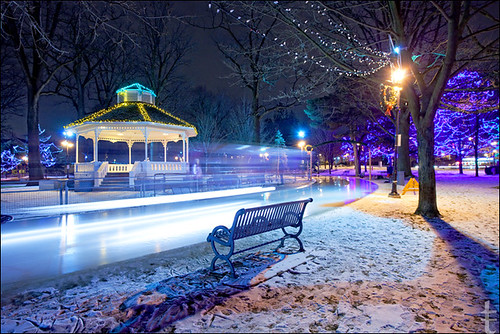 icy night in Gage Park