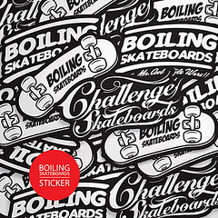 BOILING SKATEBOARDS STICKER
