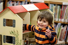 the dollhouse is back! (back in the library after H1…