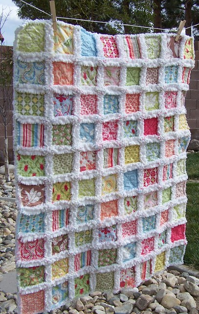 Rag Quilt Color Ideas : The Beach Resort Baby Rag Quilt ...with Kate Spain s Verna? Flickr - Photo Sharing!