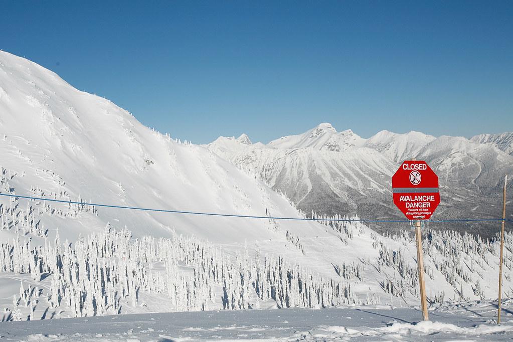 Avalanche, Fernie Canada, 2010