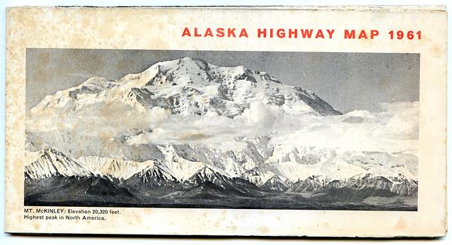 Alaska Highway Map 1961