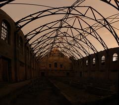 West park asylum burn out building.
