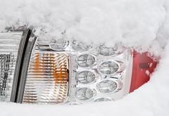 Photograph: Snow on the WRX