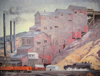At Madrid Coal Mine, New Mexico - 1934 New Deal Painting at Smithsonian American Art Museum