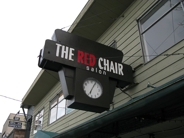 Red Chair Salon clock