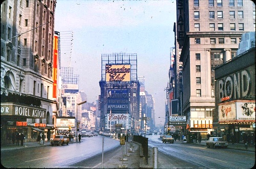 1960s Times Square NYC vintage  New York City Billboards