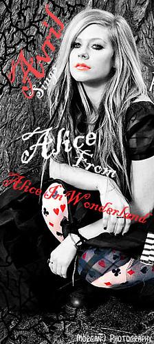Avril sings Alice from Alice In Wonderland