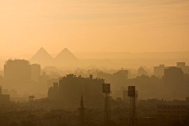 Pyramids Over Cairo