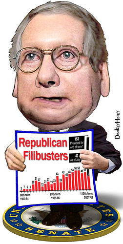 Mitch McConnell, Filibuster King by DonkeyHotey via Flikr