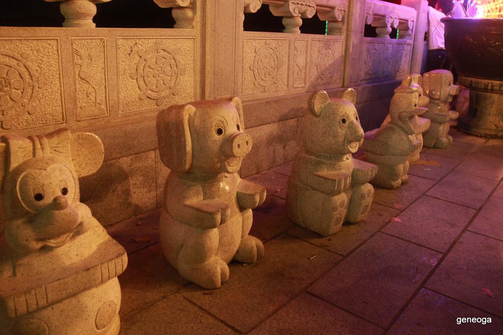 Modernized zodiac statues