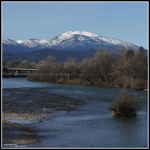 california blue winter panorama usa mountain snow river redding sonya500 sundialbrige antonioesposito