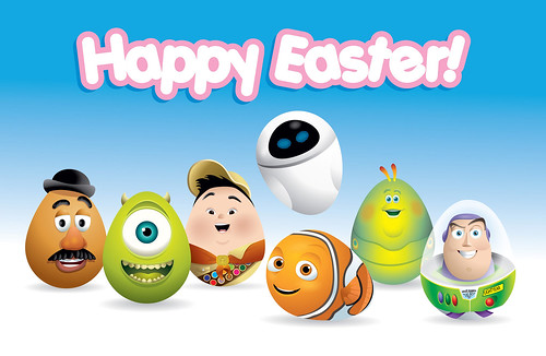 Happy Easter - Pixar Eggs