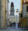 My family strolling towards the Altes Rathaus of Passau by B℮n