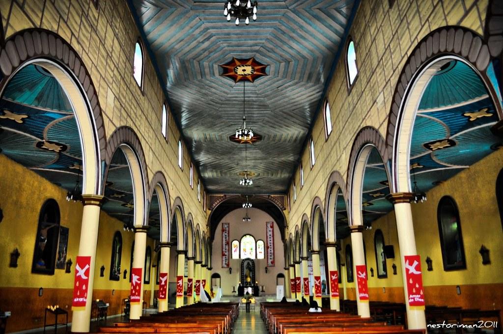 Imagen del interior de la iglesia de Filandia, Quindio
