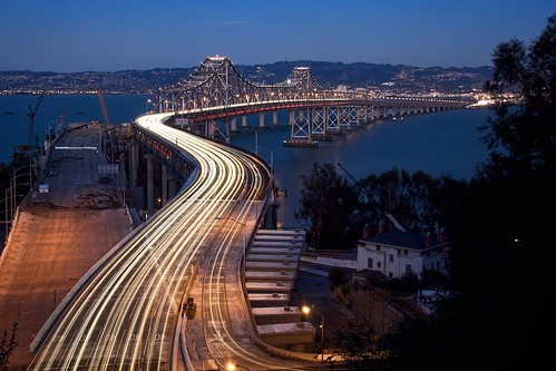 """S is for Slow-down..."", Bay Bridge, Oakland, California"