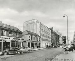 Skisse til ny forretningsgård for Schrøder i Nordre gate 6
