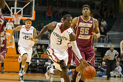 Boston College Eagles Vs. Miami Hurricanes 1/29/12: Mark's Free College ...