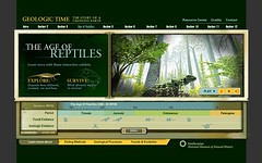 The Museum of Natural History Geologic Time Kiosk (Website)