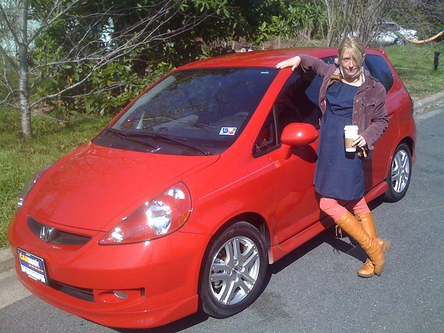 Austin, TX - Pretty red new car. And pretty girl. Unrelated. Already had the girl.