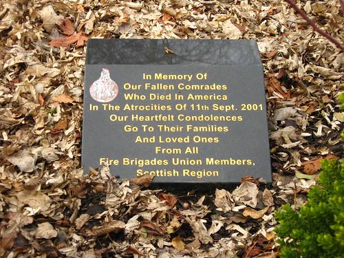 9/11 plaque