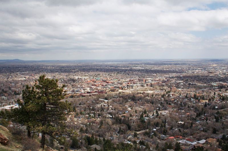 looking out over Boulder