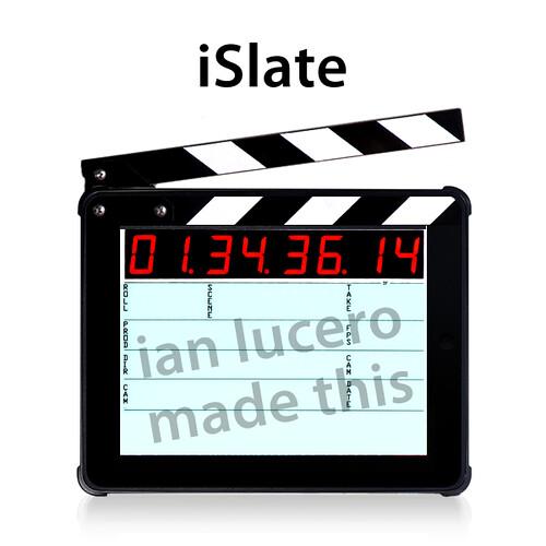 """iSlate"" Timecode Slate for Apple iPad"