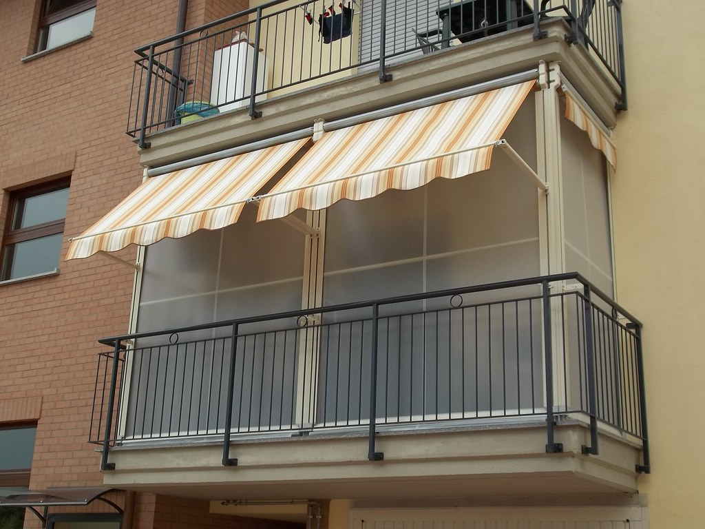 Tende Veranda Per Balconi : Tenda veranda doppio rullo estate inverno antivento tende da
