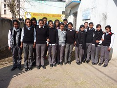 Students of adjacent school at Prakash Library