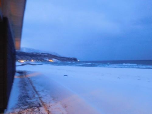翌日は雪はやんだけど風