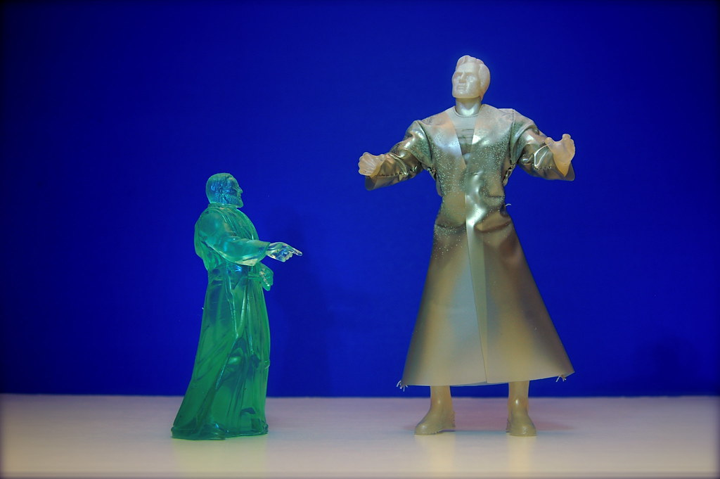 Spirit of Obi-Wan Kenobi vs. Holographic Jor-El (9/365)