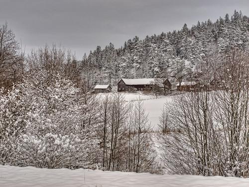 winter landscape sweden country olympus oldbarns hdr landskap västergötland e520 olympuse520 100commentgroup topazadjust kinnahult harpebo gudsås peternyhlén