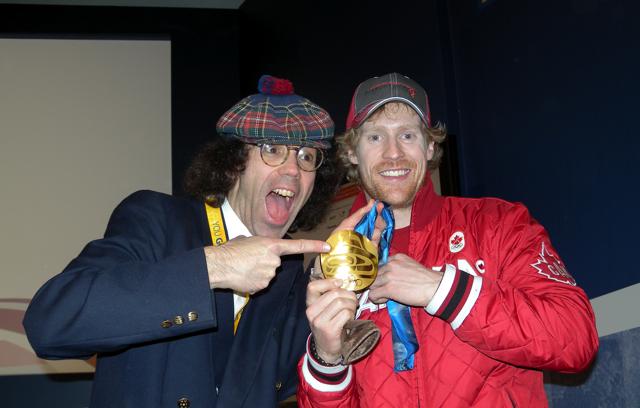 Jon Montgomery with Nardwuar
