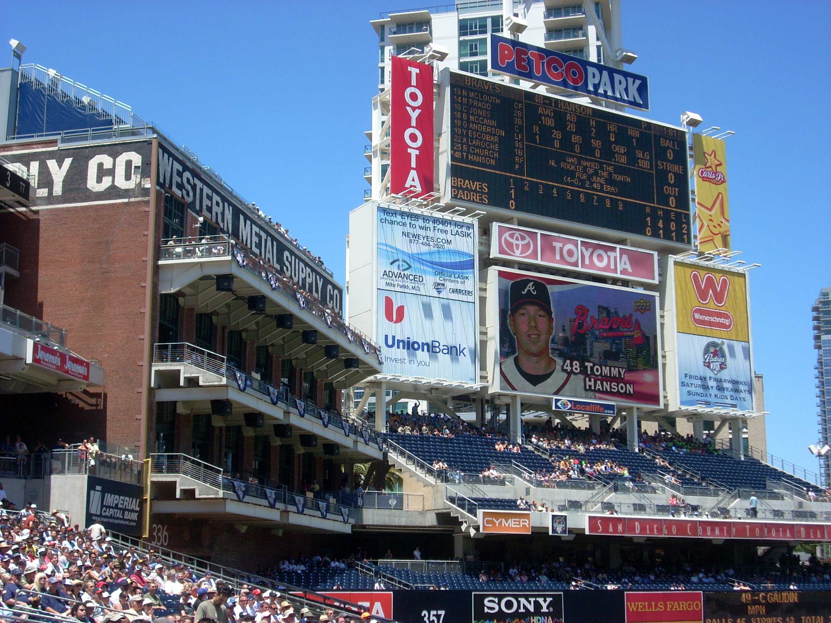 Petco Park Scoreboard And Integrated Western Metal Supply