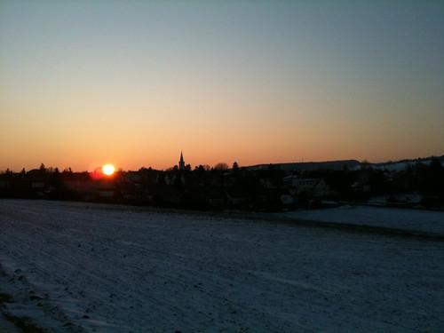 sunrise germany europe hessen sonnenaufgang 2010 hesse otzberg 201003 20100307