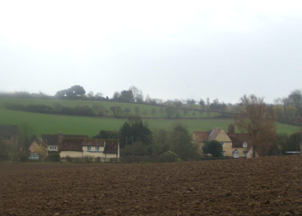 Fields and houses Bures to Sudbury