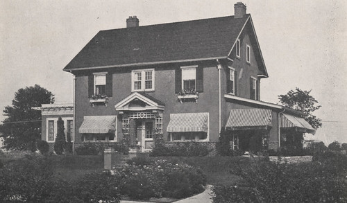 1722 Bedford Road, Frank J. Bornhauser Home, Front View, 1918